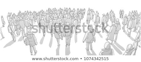 Asya nüfus 3d illustration insanlar harita iş Stok fotoğraf © idesign