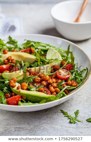 chickpea and avocado salad Stock photo © M-studio