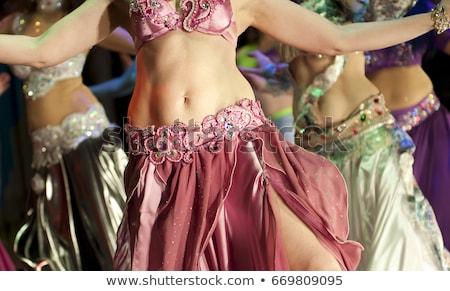 Távolkeleti has tánc illusztráció nők sziluett Stock fotó © adrenalina