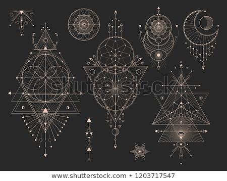 ストックフォト: ベクトル · 抽象的な · 幾何 · 装飾 · 三角形