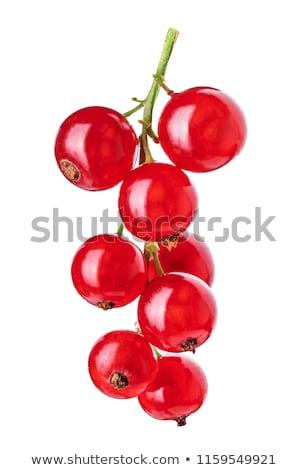 Friss piros ribiszke bogyók üveg tál Stock fotó © Digifoodstock