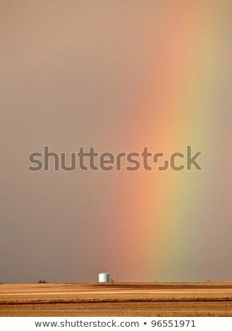 Stock fotó: Szivárvány · mögött · festői · Saskatchewan · égbolt · felhők