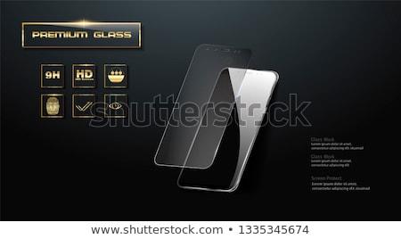 általános repedt okostelefon rendszeres modern nap Stock fotó © albund