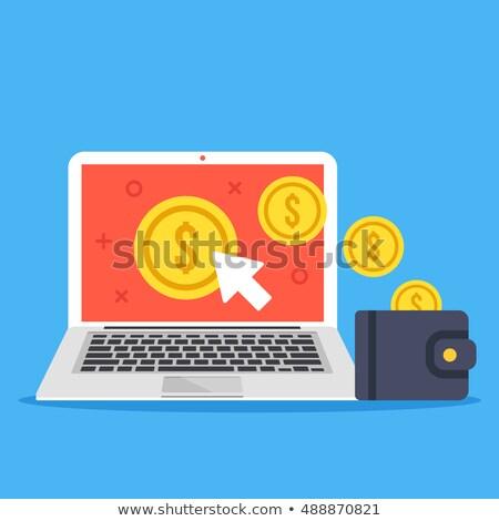Dinheiro ícone negócio projeto nuvem Foto stock © WaD