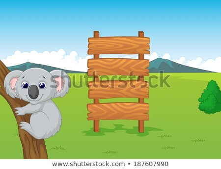 Wooden sign with word zoo Stock photo © bluering