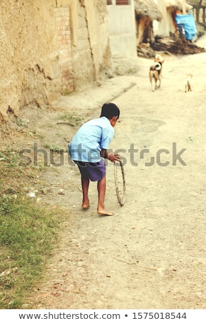 Menino azul camisas ilustração feliz criança Foto stock © bluering