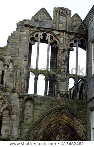 Holyrood Abbey With Gothic Arches Stock photo © searagen