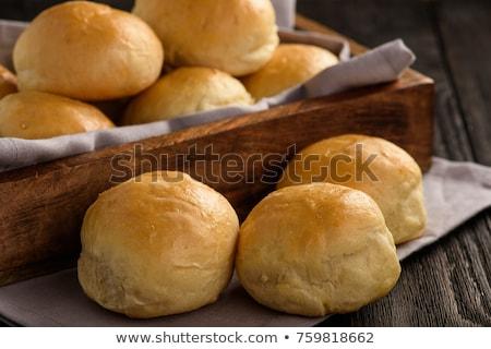 Taze ekmek beyaz grup beyaz arka plan Stok fotoğraf © Digifoodstock