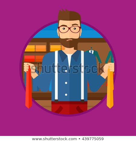 Customer choosing necktie vector illustration. Stock photo © RAStudio
