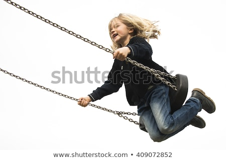 girl child swing autumn stock photo © fotoyou
