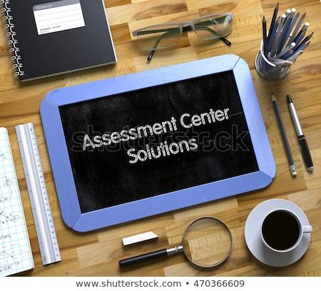 évaluation centre solutions faible tableau 3D Photo stock © tashatuvango