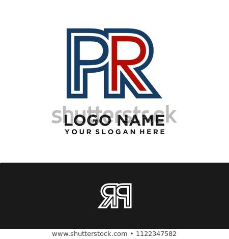 pr letter logo Stock photo © meisuseno