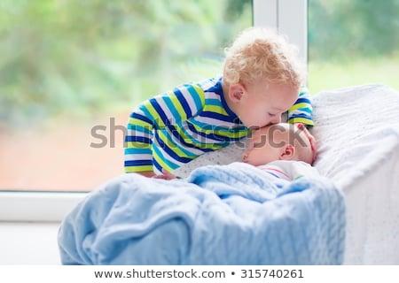 Baby ogród dziewczyna huśtawka trawy charakter Zdjęcia stock © IS2