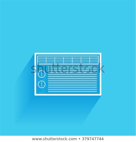 Split airconditioner ac isolated on white background Stock photo © Akhilesh