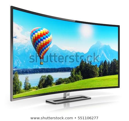 4K TV on white background. Isolated 3D illustration Stock photo © ISerg