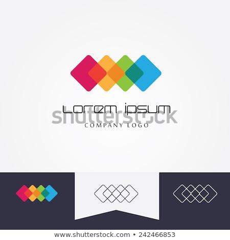 Turuncu küp soyut yalıtılmış logo Stok fotoğraf © studioworkstock