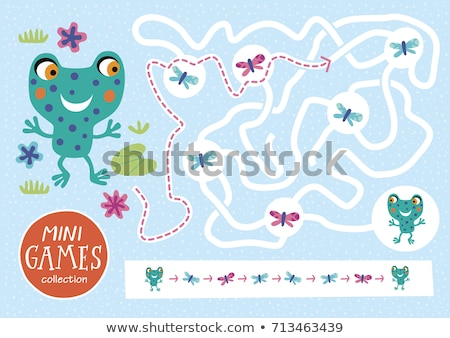 Frogs Maze Game with answer stock photo © Natali_Brill