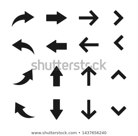 vektor · terv · íjászat · íj · nyíl · ikon - stock fotó © smoki