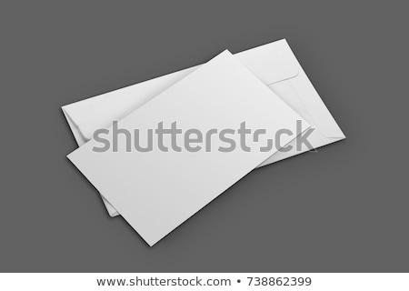 Fehér boríték vázlat meghívó papír vállalati Stock fotó © Akhilesh
