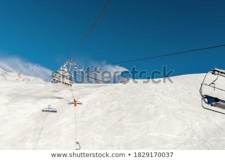 Blauw heldere hemel zon dag kaukasus auto Stockfoto © BSANI