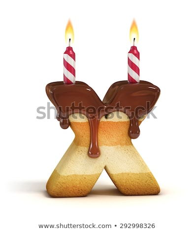 letter x birthday font letter and candle anniversary alphabet stock photo © popaukropa