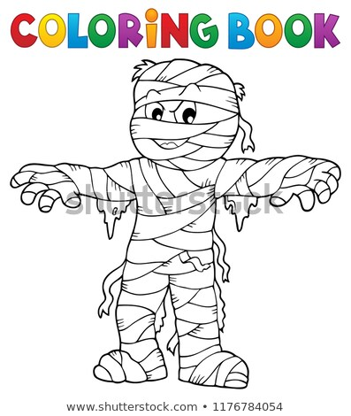 Coloring book mummy theme 1 Stock photo © clairev