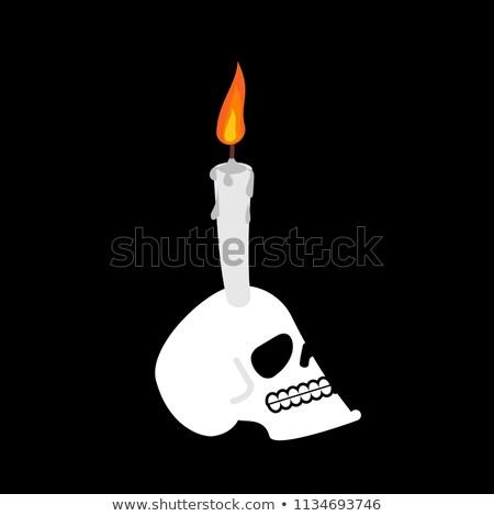 Cráneo vela cabeza esqueleto bruja místico Foto stock © popaukropa