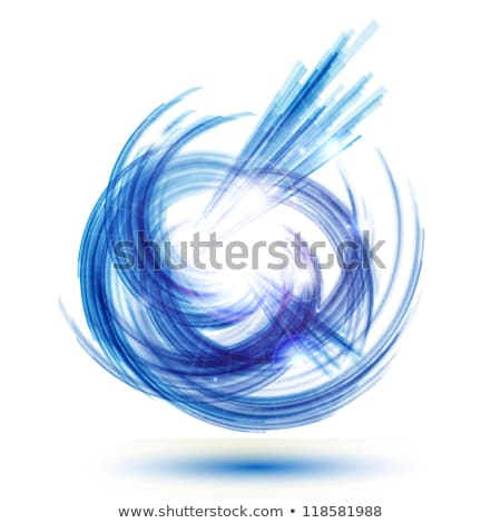 Blue Abstract Wind and Twister Shape Vector Illustration Stock photo © cidepix