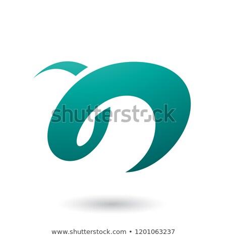 Persian Green Curvy Fun Letter N Vector Illustration Stock photo © cidepix