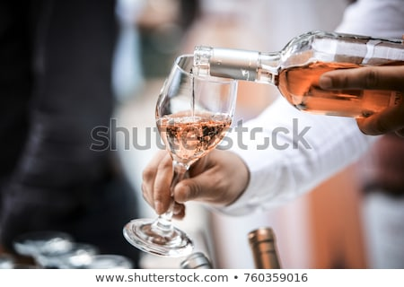 Rose wine glass Stock photo © karandaev