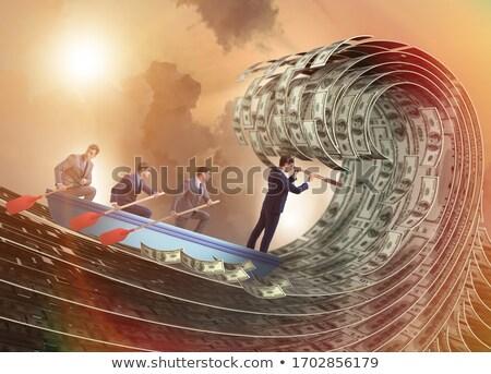 человека · лодка · глядя · песок · 3d · визуализации · иллюстрация - Сток-фото © elnur