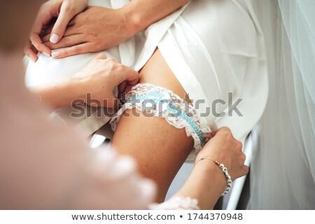 Casamento dia belo noiva vestido de noiva renda Foto stock © ruslanshramko