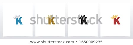 alphabet letter with crown king queen Stock photo © vector1st