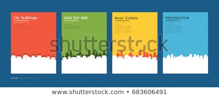 Real estate - modern line design style web banner Stock photo © Decorwithme
