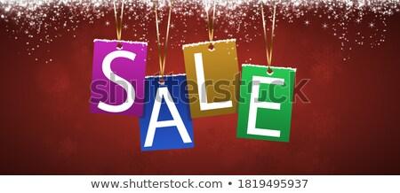 Urlaub Winter Verkauf Bekanntmachung Weihnachten Neujahr Stock foto © alexaldo