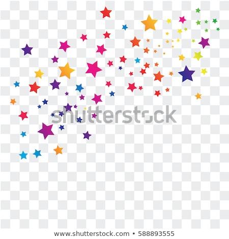 Foto stock: Colorido · estrela · símbolo · vetor · ícone · elemento