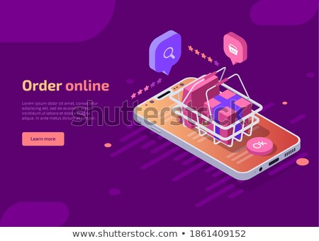 Online gift review isometric 3D concept illustration. Stock photo © RAStudio