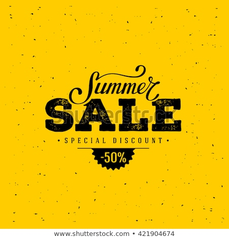 summer sale bargains posters vector illustration stock photo © robuart