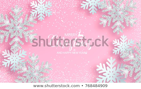 Brillant flocons de neige glitter or accueil résumé Photo stock © SArts