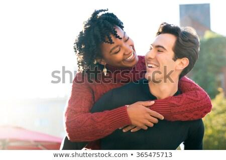 Portrait of a multiethnic couple Stock photo © deandrobot