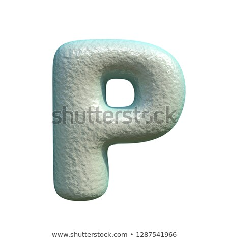 Grey blue clay font Letter P 3D Stock photo © djmilic