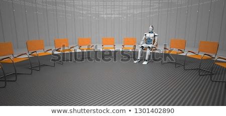 Robô terapia futurista quarto ilustração 3d Foto stock © limbi007