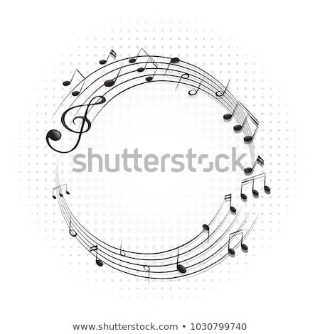 ストックフォト: フレーム · 音符 · スケール · 実例 · 芸術 · 図面