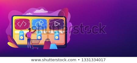 Digitale dienst marktplaats banner klant Stockfoto © RAStudio