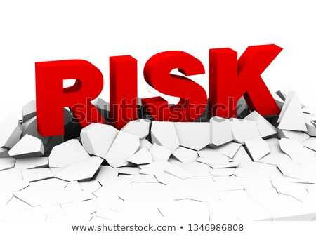 3d word risk on crack ground plane Stock photo © ribah