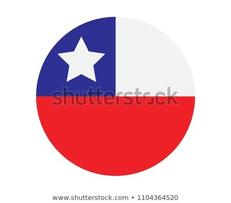 Chile flag on round badge Stock photo © colematt