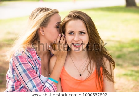 Cheerful young girl spending time at the park Stock photo © deandrobot