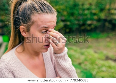 Allergy Symptoms, Patient Sneezing and Crying Stock photo © robuart