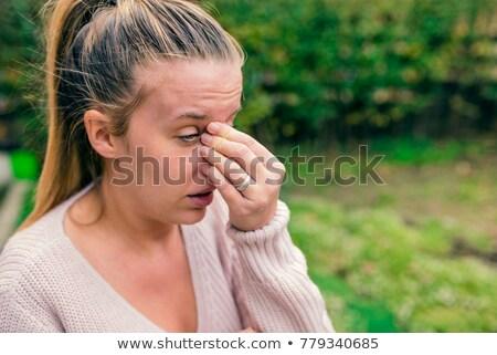 huilen · oog · profiel · stijl · afbeelding · tranen - stockfoto © robuart