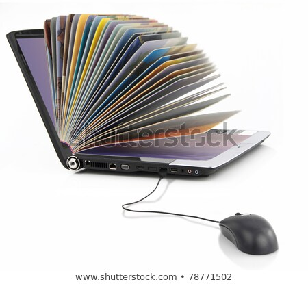 Online Library with Access to Books for Students Photo stock © robuart